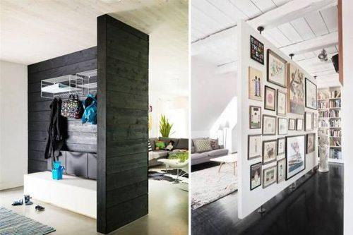 20 pavyzdžių, kaip atskirti kambarius be sienų