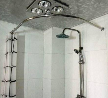 Karnizas dušo užuolaidai