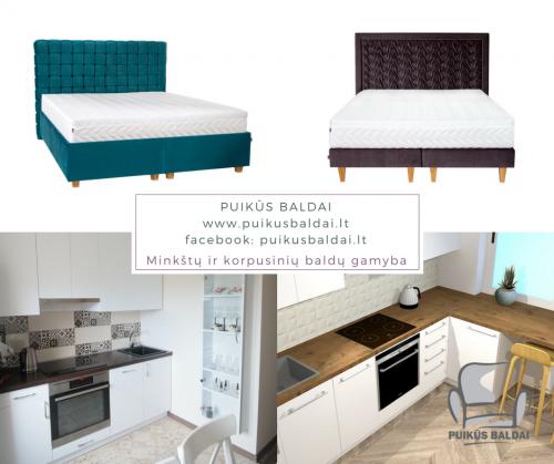 Virtuviniai baldai, miegamojo lovos