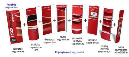 """Lankstūs mobilūs parodų stendai """"ISOframe"""" iš anoduoto aliuminio"""