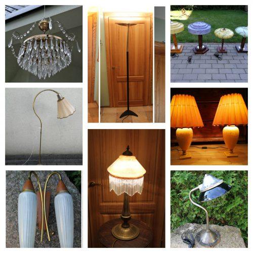 Originalios lempos, toršeros, bra, stalinės, naktinės….