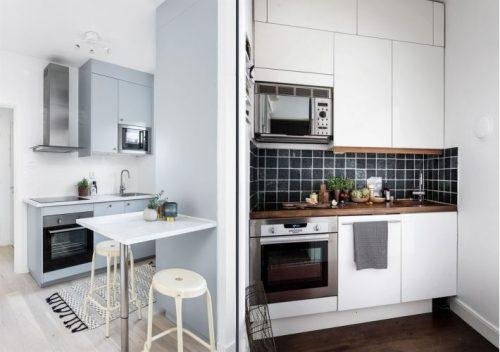 Idėjos mažai virtuvei: dydis nėra svarbus