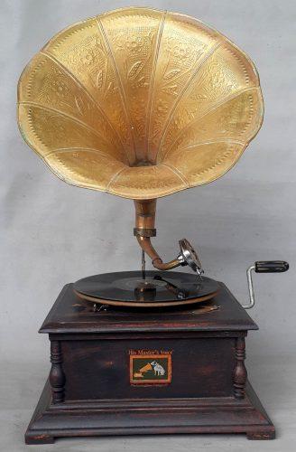 Veikiantis prisukamas Gramofonas