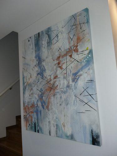 Abstraktus paveikslas interjeriui 1×1,2m ir 80×80cm
